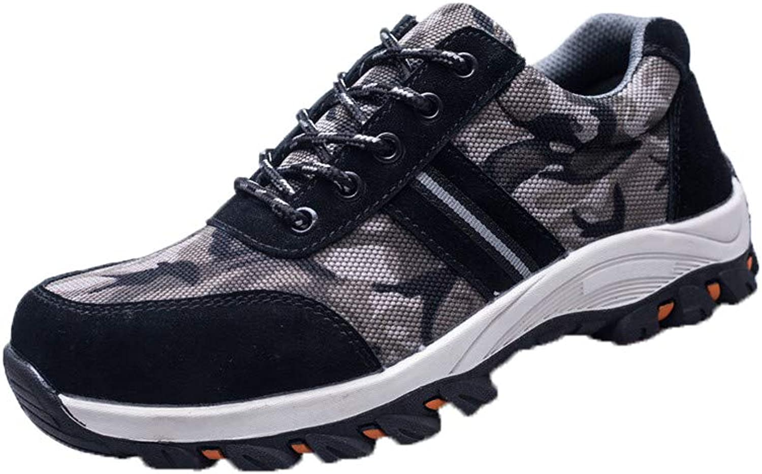 Exclusive shoesbox Steel Toe Work Safety shoes Men Reflective Casual Breathable Outdoor Sneakers