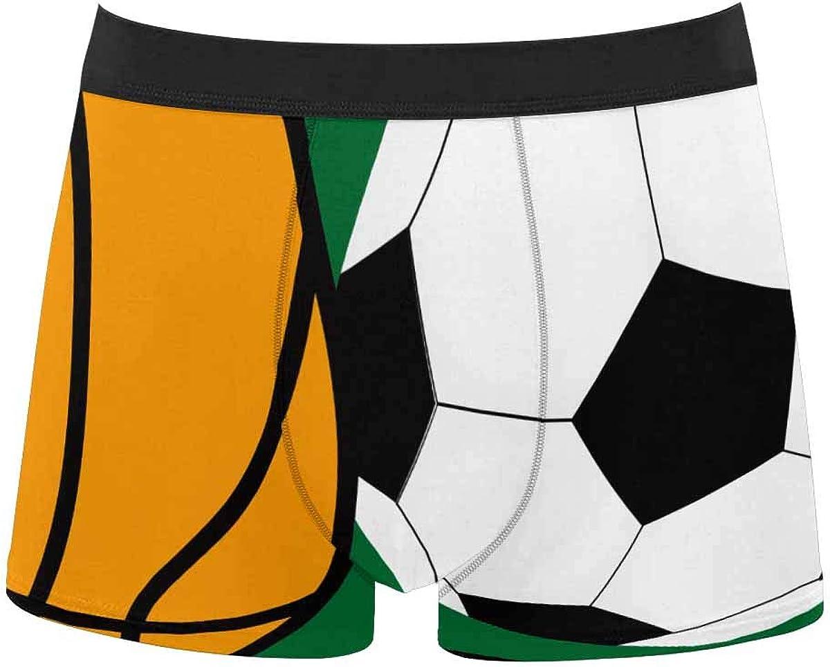 InterestPrint Men's Classic Fit Boxer Briefs Comfort Breathable Underwear Baseball Team
