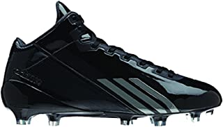 New Adizero 5 Star 2.0 Mid Mens 11.5 Football Molded Cleats Black/Black