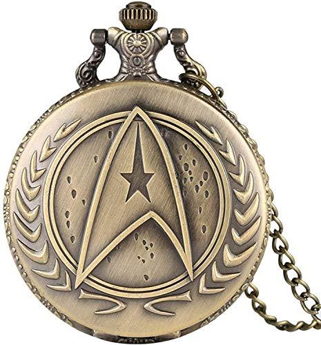 ADSE Einzigartige Star Trek Taschenuhr für Männer, praktische arabische Ziffern Taschenuhren für Frauen, Superior Retro Vintage Slim Chain Anhänger Uhr für Jugendliche