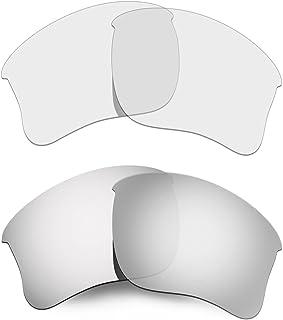 Hkuco Mens Replacement Lenses For Oakley Flak Jacket XLJ Sunglasses Blue/Transparent Polarized