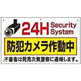 防犯カメラ 屋外 看板 24H防犯カメラ作動中 H350×W600mm プラスチック樹脂 取付穴6ヶ所あり to-38a