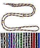Hundeleine kleine Hunde bis 15 Kg / Doppelleine 4-Fach verstellbar 2,40m / 2,80m / 3,50m Führleine sehr leicht & robust (2,80m 4-Fach verstellbar, Navajo (8 Farben))
