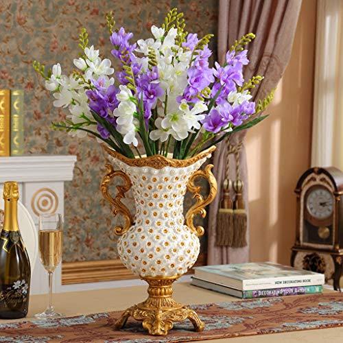 CZX handgemaakte hars vloer vaas hoog voor woonkamer, grote diamant huisdecoratie bloempot bloempot bloemen decoratief voor groot hotel tafel Decor office partij of bruiloft cadeau