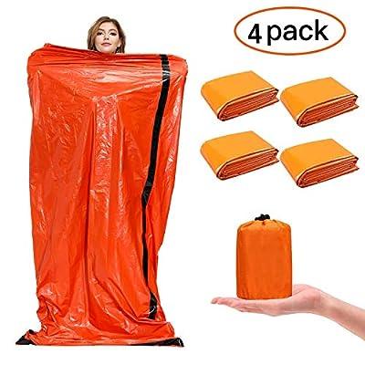 SAINUOD Emergency Sleeping Bag Waterproof Blanket Thermal Survival Bivvy Bags with Ultralight Gear Portable Nylon Sack for Camping, Hiking, Outdoor Adventure Activities