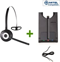 Mitel (Aastra) certified Jabra Cordless Headset | PRO 920 Bundle | Electronic Remote Answerer included | Mitel (Aastra) VoiP phones: 6865i, 6867i, 6869i