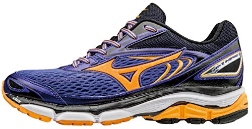 Mizuno Women's Wave Inspire 13 (W) Running Shoes, Purple (Liberty/Orange Pop/White), 4.5 UK 37 EU