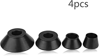 Qiilu 4pcs Wheel Balancer Adapter Cones Standard Taper Cone Kit for 40mm Shaft