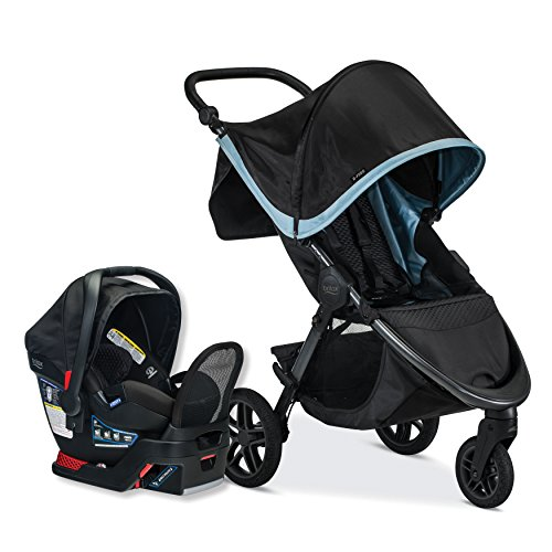 Britax B-Free Travel System with B-Safe Endeavours Infant Car Seat - Birth to 65 Pounds, Frost