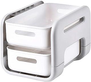YXZN Étagère de Cuisine 2 Niveaux en Plastique Panier Coulissant Support de Rangement sous évier étagère Organisateur pour...
