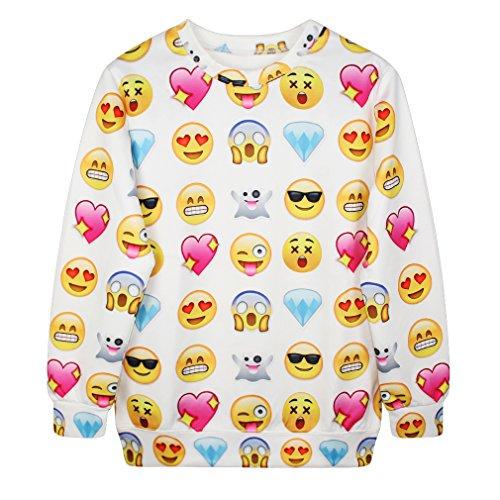 Ninimour Autumn Herbst Damen Shirt Pullovers Weihnachten Weihnachtenmann Street Wear Hiphop (einheitgröße, WYC121)