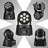 Donner Moving Head Stage Lights, 7x10W RGBW 4 in 1 LED Super Bright Disco Spotlight 9/14 CH with DMX512...
