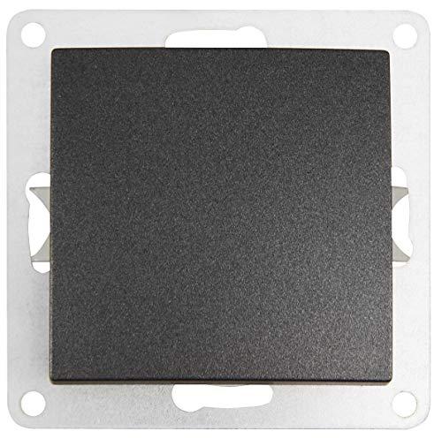 MC POWER 1534773 Interruptor de Cambio (250 V ~/10 A, UP, conexión de Pinza), Color Gris Mate