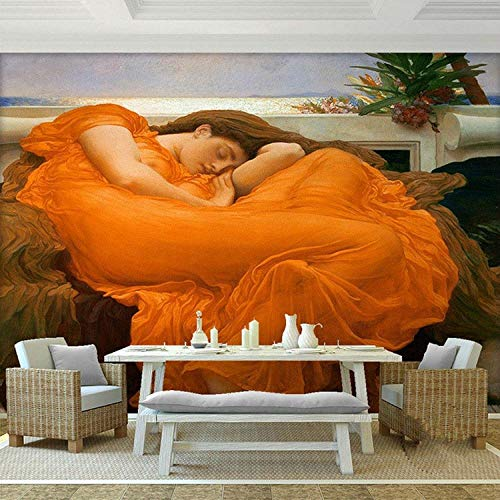 RQWBH Papel Tapiz Autoadhesivo Murales 3D (W) 250X (H) 175Cm3D Mural Llama Llama Junio Papel Tapiz De Pintura De Fama Mundial Papel De Arte Decoración De La Habitación Dormitorio Cafe Tv Sofá Fondo