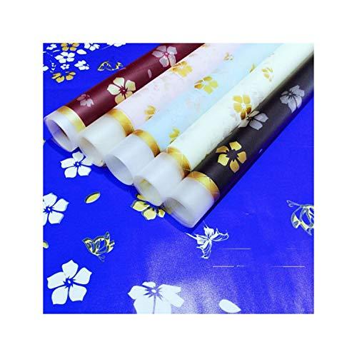 20Pcs Blume Verpackungspapier Matte Oberfläche wasserdicht Verpackungsmaterial Papier Bouquet Florist Supplies Geschenkpapier schwarz