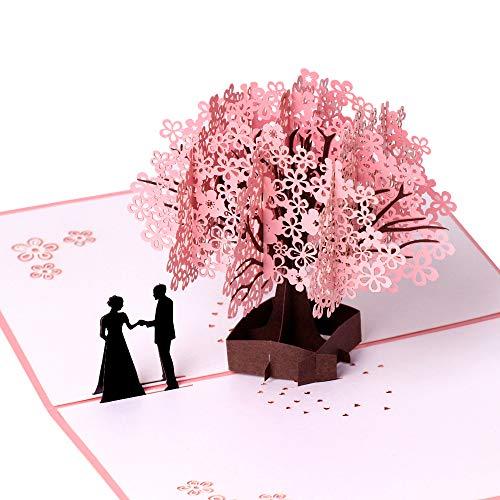 Tarjeta de cumpleaños, tarjeta de aniversario, románticas tarjetas de felicitación 3D, regalo para esposa, novia, marido, novio