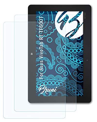 Bruni Schutzfolie kompatibel mit Asus VivoTab RT TF600T Folie, glasklare Bildschirmschutzfolie (2X)
