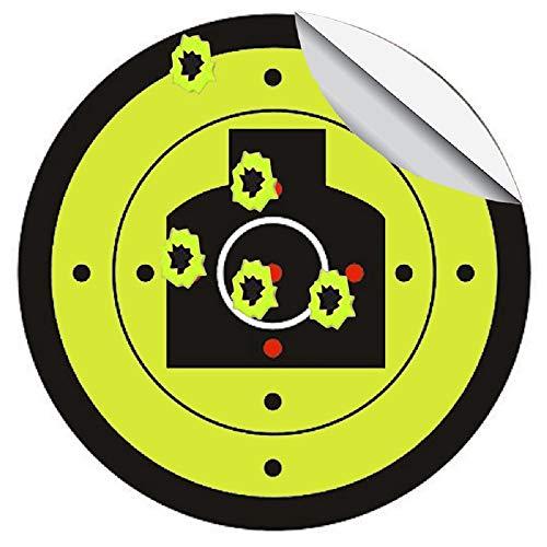 Splatter Blossom Target - Pegatinas de Silueta para el Pecho (7,5 cm de diámetro, dianas de Tiro, Deportes al Aire Libre e Interior, 100 Unidades/Paquete)