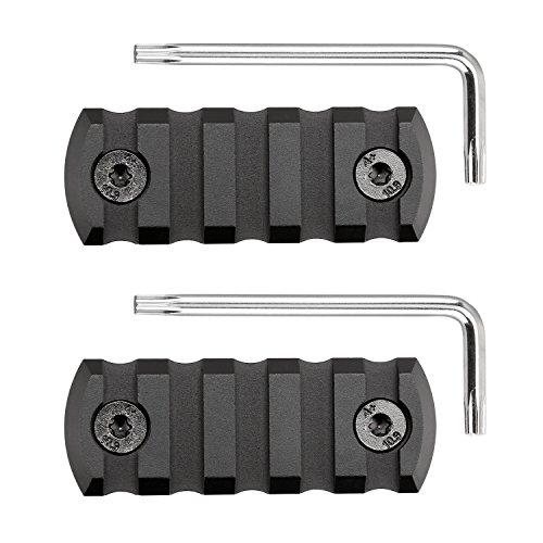 SportsEveryday Picatinny/Weaver Rail für MLok Handschützer, Aluminiumlegierung, 5-Fach, 2er Pack