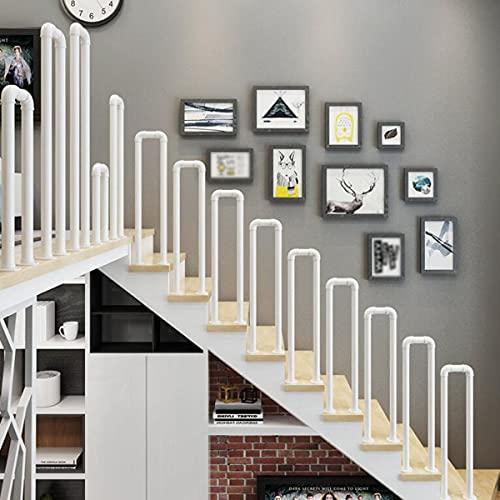 CHEIRS Pasos para Exteriores Pasamanos para escaleras, pasamanos en Forma de U para escaleras Pasamanos Interiores para terrazas, pasillos, jardín, pasamanos para escaleras,85cm
