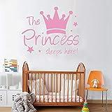 Las niñas están durmiendo aquí pegatinas de pared calcomanías de pared para habitación de niños dormitorio de niñas decoración del hogar vinilo arte mural decoración