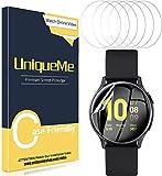 UniqueMe [6 Pack] Pellicola Protettiva per Samsung Galaxy Watch Active 2 44mm Pellicola, [Bubble-Free] [Film Flessibile] Soft HD Clear Anti-Scratch [Garanzia sui sostituzioni a Vita]