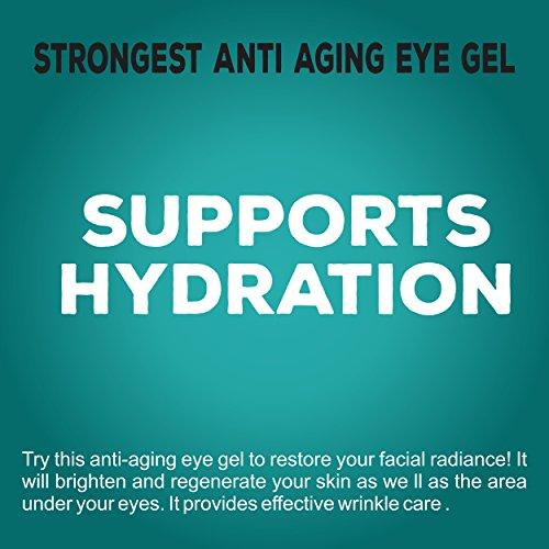 Gel contour des yeux anti-âge – Fabriqué aux États-Unis – pour les cernes, les gonflements,...