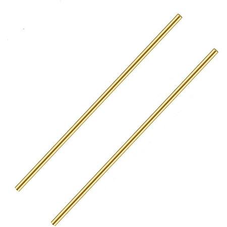 "10/"" Brass Round Bar Rod Stock Diameter 4mm and 6mm 2Pcs"