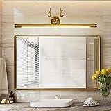 WHSS Luces de pared de cobre cuernos LED espejo faros de baño espejo gabinete baño baño baño baño baño lavabo lámparas...