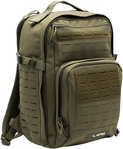 LA Police Gear Atlas 12H MOLLE Tactical Backpack for Hiking, Rucksack, Bug Out, or Hunting-Green