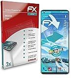 atFoliX Película Protectora Compatible con Motorola Edge Protector Película, Ultra Claro y Flexible FX Lámina Protectora de Pantalla (3X)