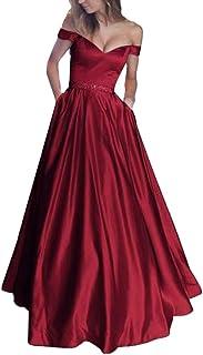 Vestido de Mujer, Dragon868 Vestido Largo sin Mangas con Volantes de Encaje Vestido de Dama de Honor