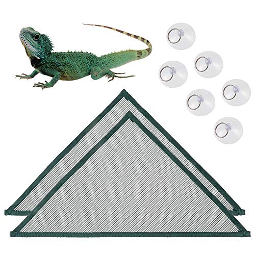 MORGENLICHT Reptile Hammock, 2 Pack Beard Dragon Lizard Lounger Ladder Breathable Lizard Cage Hammock Bed Accessories for Bearded Dragons Geckos Lizards Snakes