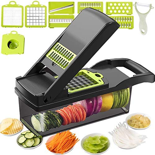 12 in 1 Vegetable Chopper Heavy Duty Mandoline Slicer Potato Onion Chopper Food Chopper Veggie product image
