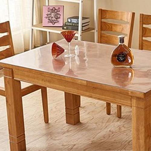 WLF-didian Tischdecke aus PVC-Kunststoff, Schutzhülle für Küchen- und Esszimmermöbel aus Holz, Desktop-Schutzaufkleber, 10 Größen,1.5mm,90 * 140cm