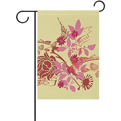 Hao-shop decoratiebord vlag tuin droom van de bloem van de vis voor decoratie buitenshuis voor de erf