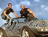 Limited Edition Vin Diesel Paul Walker Signiert Foto