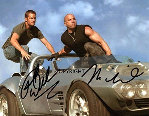Limited Edition Vin Diesel Paul Walker Signiert Foto Autogramm signiertsigniertes