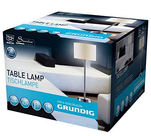 Grundig Tischlampe edelstahl rund 58 cm 38195