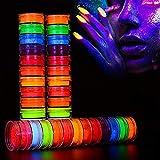 Eenten - Polvo de fósforo para uñas, 12 colores profesional neón noche resplandor pigmento luminiscente para decoraciones de Halloween, fiesta de Navidad, mujeres, hombres y niñas
