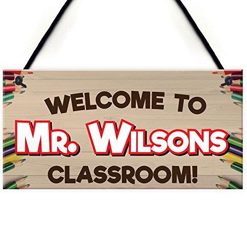 RED OCEAN Welcome To Classroom Personalised Teachers Present Hanging Door...