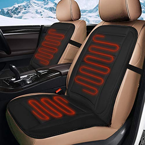 XUELI Heated Car Seat Cushion, Car Seat Heater Universal 12V Car Seat Fast Warming for Cold Weather Winter Driving Safer, Heated Seat Cover for Car/Truck/Home/Office Chair Use