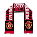 Manchester United FC Authentic EPL Pride of The North Scarf,red,Black,White,4.5 ft Long mens winter jackets May, 2021