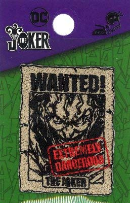 ◇ キャラクター 刺しゅう ワッペン アメリカン コミックヒーロー ( ジョーカー ) 大きさ( 本体 約5×3.5cm )1枚入り (バットマン) ( キャラクターワッペン アップリケ アイロン 刺繍 かわいい おしゃれ マーク キッズ 子供 こども 男