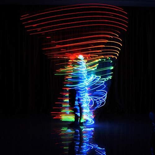 Byjia Bauchtanz-Schmetterlings-LED isis Flügel, Karneval Halloween zeigt 360-Grad leuchtende Kostüm-Stütze mit flexiblen Stücken