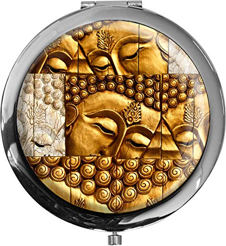metALUm Taschenspiegel BUDDAH mit 2 - facher Vergrößerung #7701176
