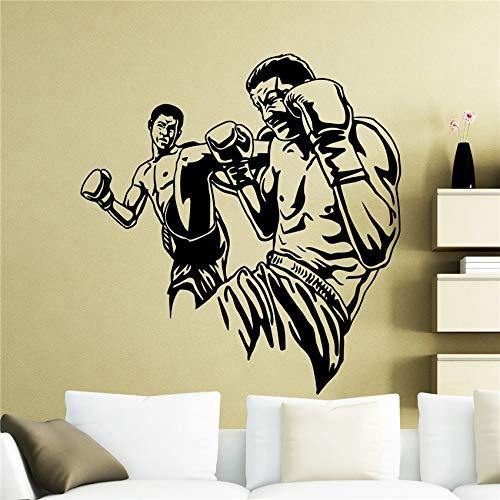 BailongXiao Karate Kung Fu Sport Kampfkunst Familie Dekoration Junge Zimmer Schlafzimmer Art Deco Wandbild Vinyl Zimmer Wandaufkleber