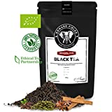 Edward Fields ® Tea - Té Chai negro orgánico de alta calidad. Te Bio a granel, ingredientes naturales, recolectado a mano, 100g, India.
