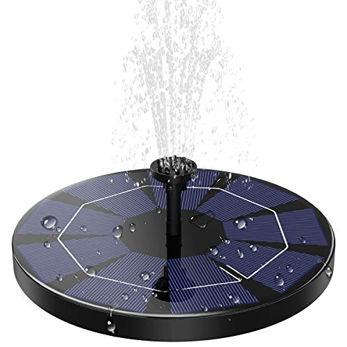 AD ADTRIP 3.0W Solar Fountain Pump for Bird Bath with 1200mAh Battery Backup, Solar Powered Fountain Pump Small Floating Solar Water Fountain Kit for Outdoor, Garden, Small Pond, Pool