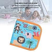 消去可能なスケッチブック、ポータブルで絶妙な消去可能な描画パッドおもちゃキッズPVC、12個のカラフルなペンでスケッチするための絵画用の描画用の書き込み用((14 animals + 12 pens))
